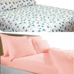 Cotton bedsheets 144TC Blue Floral And Pink Plain By Avioni