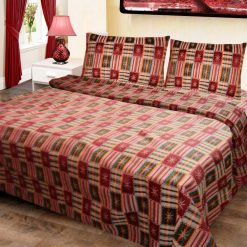Double-Bed-Cover-Floral-Multicolor-Square