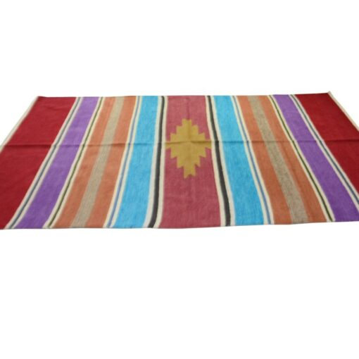 Buy Handloom Rugs (Durries) Red Border with Pink Online