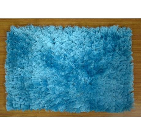 Handloom Shaggy Soft Feel Luxury Mat Blue Color
