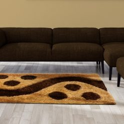 Shag Carpets For Living Room – contemporary Shaggy Brown and Beige Design  – Modern Area Rug Designs by Avioni