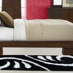 Handloom Shaggy Coffee And Beige Carpet/Bedside Runners (22X55 Inch)  by Avioni