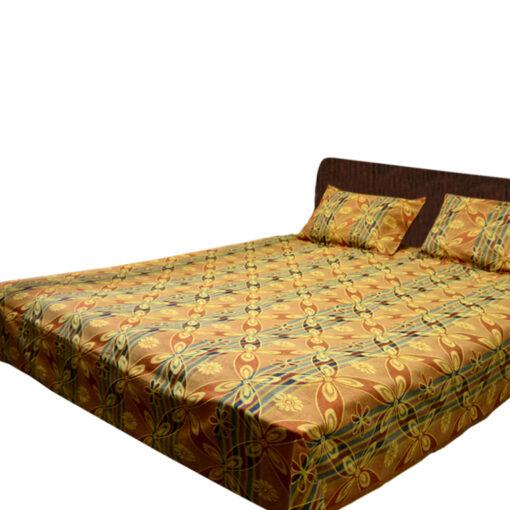 Multicolor Cotton Double Bedsheet