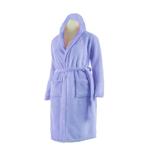 Bathrobes With Hood Very Fine Export Quality 100% Cotton in Light Blue by Avioni