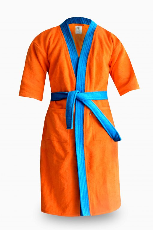 Loomkart Very Fine Export Quality Bath Robes in BlueVery Soft Velvet Finish in Avioni Zip -Packing- Standard Size
