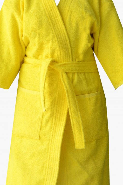 Loomkart Very Fine Export Quality Bath Robes in Pink in Avioni Zip-Packing- Standard Size
