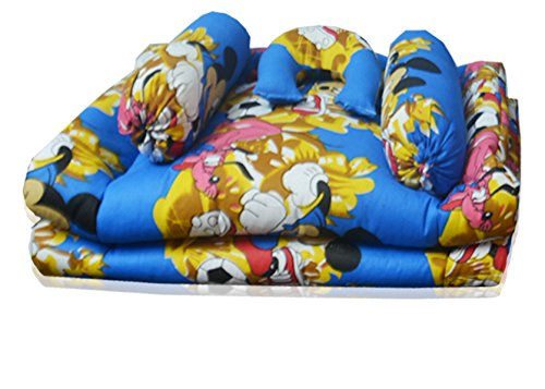 Kids Cotton Bedding Set in Multicolor (Set of 5) (0 -12 Months) by Avioni