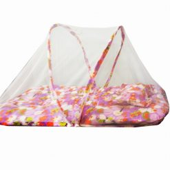 Kids Super Soft And Warm Bedding With Pillow And Mosquito Net in Multicolor (0 -12 Months)