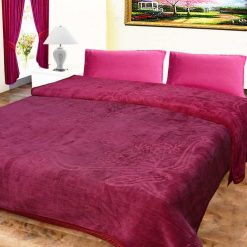 Avioni Mink Double BedBlankets Shiny Pinkish- Purple Very Soft And Warm