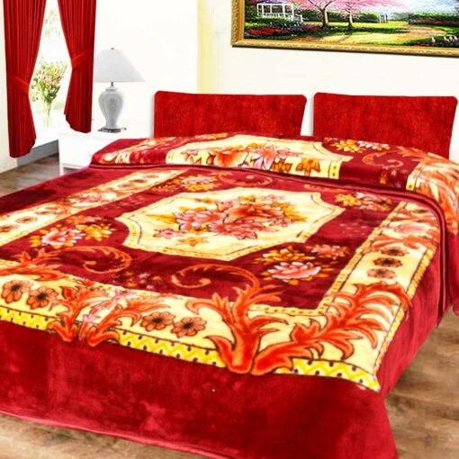 Avioni Mink Double Bed Blankets Multicolor Floral Soft And Warm …