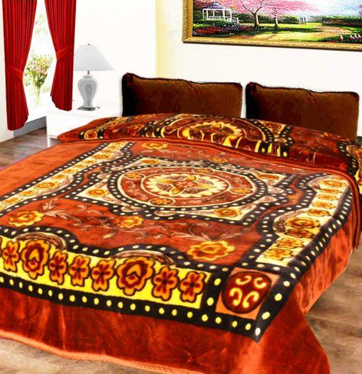 Avioni Mink Single Bed Blankets Multicolor Floral Soft And Warm
