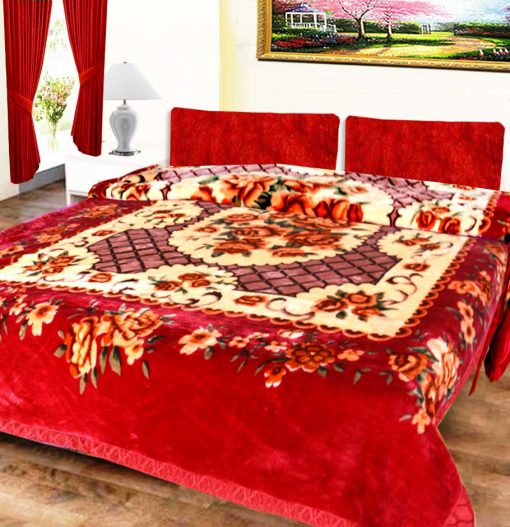 Avioni Mink Single Bed Blankets Royal Look Floral Very Soft And Warm -Heavy weight- queen size …