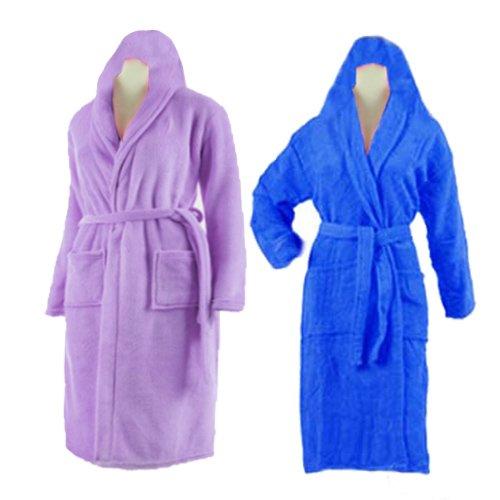 Bath Robe With Hood Multicolor Set of 2 by Avioni
