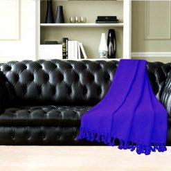 Avioni Premium 100% Cotton Sofa Throws/Blankets in Blue