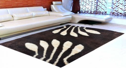 Premium Coffee And Beige Beautiful Premium Carpet (4X6 Feet) by Avioni