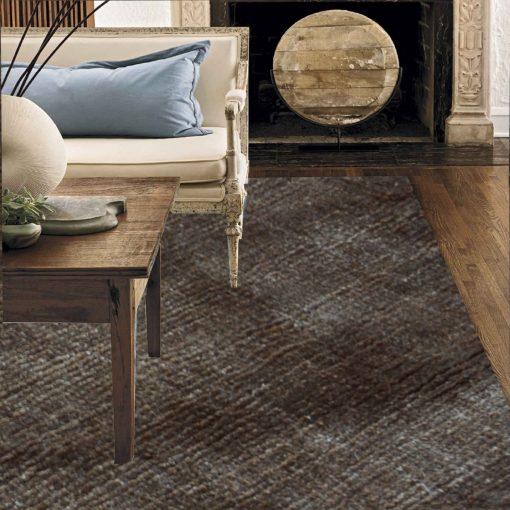 Premium Silk Brown Plain Carpet (6X4.5 Feet) by Avioni
