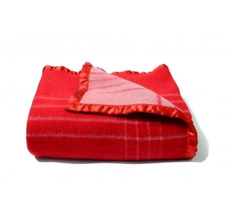 Avioni Home Premium 80 Percent Wool Very Warm Red  Wool Blankets
