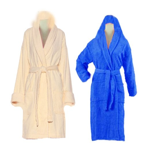 Multicolor Bathrobes with Hood set of 2 By Avioni