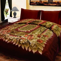 Double Bed Soft Mink Blankets with Multicolor – 92×94 Inches