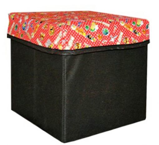 Avioni  One Storage Foldable Stool of Black and Red colour