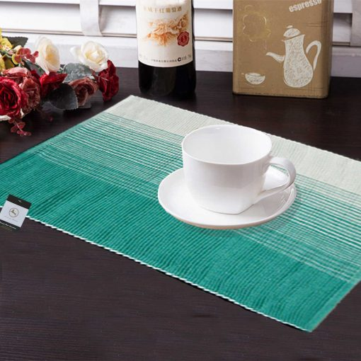 avioni Premium Cotton Ribbed Table Mats Horizon Collection Export Quality Turquoise Green ( Set of 7) …