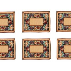 Table Mats (Set Of Six) On Jacquard Fabric