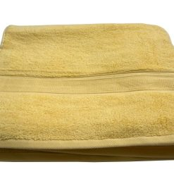 Bath Towels 100% Cotton Yellow Color Export Quality
