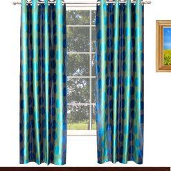 Avioni Home Fancy Rich Look  Aqua Eyelet Curtain Heavy Knitting Polyester Material