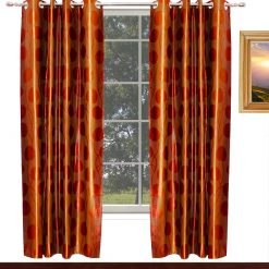 Avioni Home Fancy Rich Look  Brown Eyelet Curtain Heavy Knitting Polyester Material