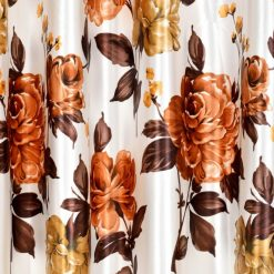 Avioni Beautiful Digital Floral Prints Window And Door Curtains (Set of 2)
