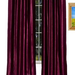 Avioni Home Fancy  Eyelet Curtain Heavy Purple Crush Material