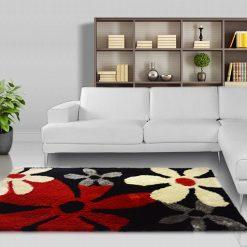 Shag Pile Carpet – Floral Area Rug  – Modern Contemporary Design –  Avioni  – Best Seller