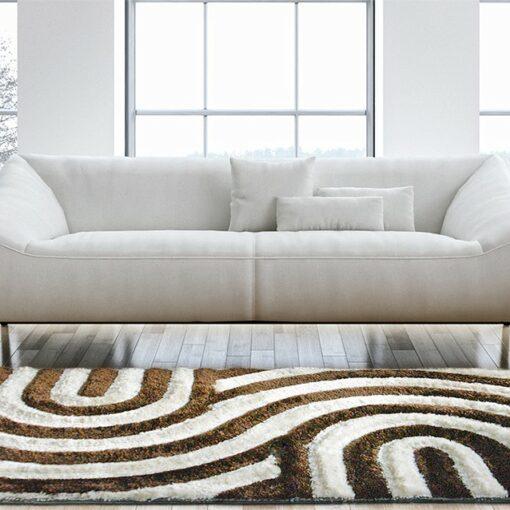 Beautiful Shag Rugs - Modern Carpet - Coffee Cream Carpet in 3D -Contemporary Design - Avioni  - Factory Prices