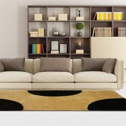 Shag Rug – Black & Beige Carpet in Modern Design  –  Avioni  – Best Deal