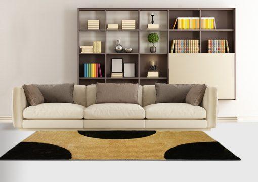 Shag Rug - Black & Beige Carpet in Modern Design  -  Avioni  - Best Deal