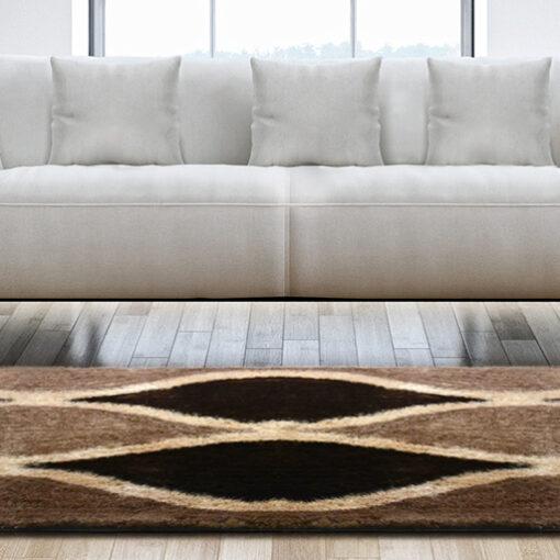 Contemporary Rugs - Chocolate Brown Carpet Living Room - Modern Design - Best Seller - Avioni