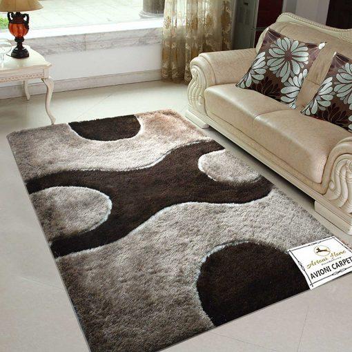 Designer Rugs - Shag Carpet with Modern Coffee Design @ Avioni Factory Price