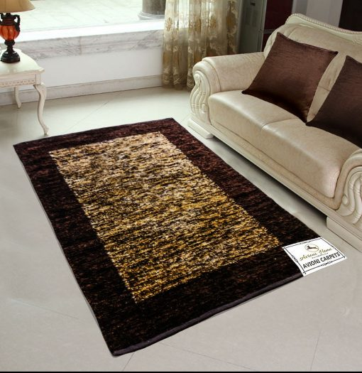 Avioni Rugs  Coffee Shades Carpets For Living Room Actual Feather Touch- Softness Guaranteed-Handloom Made Reversible Light Weight