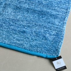 Avioni Handloom Rugs Carpets For Living Room In Feather Touch In Blue   -3 Feet X 5 Feet