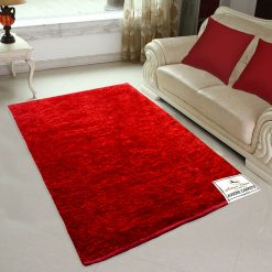 Avioni Rugs  Red Carpets For Living Room Actual Feather Touch- Softness Guaranteed-Handloom Made Reversible Light Weight   -3 Feet X 5 Feet