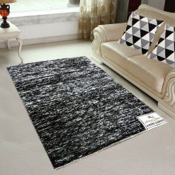 Avioni Rugs  Black-white Rug/Carpets For Living Room Actual Feather Touch- Softness -Handloom Made Reversible Light Weight   -3 Feet X 5 Feet