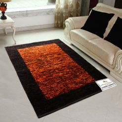 Avioni Rugs  Orange With Coffee Royal Look Rug/ Carpets For Living Room Actual Feather Touch- Softness Guaranteed-Handloom Made Reversible Light Weight   -3 Feet X 5 Feet