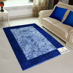 Avioni Rugs  Blue Border Royal Rug/ Carpets For Living Room Actual Feather Touch- Softness Guaranteed-Handloom Made Reversible Light Weight   -3 Feet X 5 Feet