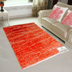 Avioni Rugs  Orange Multicolor Rug/ Carpet For Living Room Actual Feather Touch- Softness-Handloom Made Reversible Light Weight   -3 Feet X 5 Feet