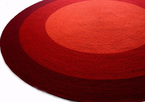 """Avioni Cotton Braided Rising Sun Area Rug 140CMS (Diameter) round """"Nature Collection"""" Specially designed for festive season, Handmade by Skilled Artisan, Cotton Rich Vibrant Colors"""