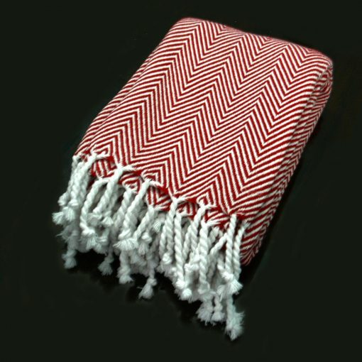 Avioni Premium 100% Cotton Sofa Throws/Blankets-Red