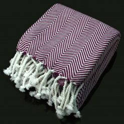 Avioni Premium 100% Cotton Sofa Throws/Blanket-Purple