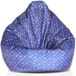 BIGMO Bean Bags Comfy  XXXL  Blue – Without beans