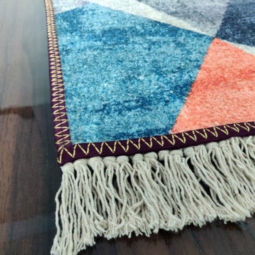 Avioni Carpet – Faux Silk- Neo Modern Collection 3D Geometric Design- 3×5 Feet