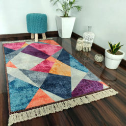 Avioni Neo Modern 3D Geogmatric Design Carpets for Home Silk – 122x 182 cm (4X6 Feet)